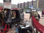 В столице взорвался автомобиль